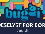 Buggis farverige logo, der appellerer til børn og barnlige sjæle. Måske også hunde