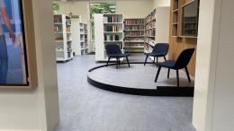Interiør fra det nye fællesbibliotek