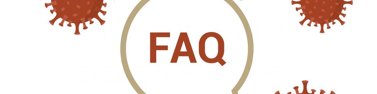 FAQ med svævende Coronavirus omkring