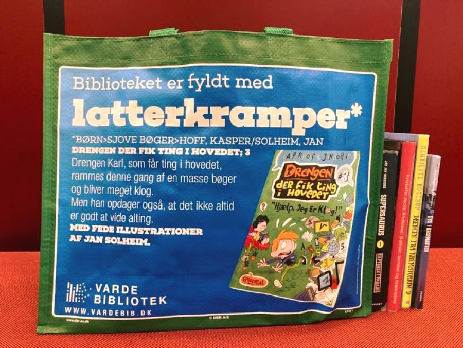 Bibliotekets nye bæreposer er klimavenlige